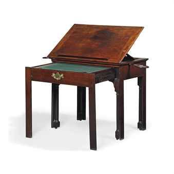A GEORGE III MAHOGANY ARCHITECT'S TABLE ....(Sold at Christie's Dec 2012)...Roderick Coles and The Curious Orange Store have a comparable 18th Cent. architect's table that will be coming on the market Dec 2013. Very Excited !!!