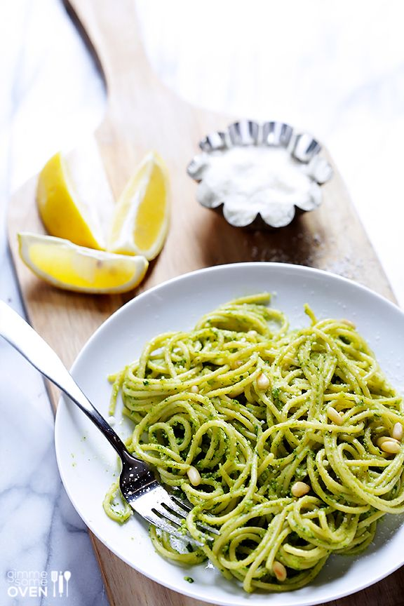 Arugula Pesto Pasta from @Ali Velez Ebright (Gimme Some Oven)