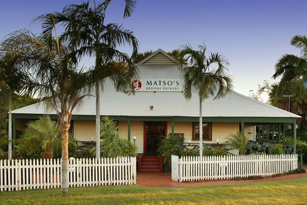 Matso's  Broome Brewery is the Kimberley's award winning microbrewery and a true Broome treasure.  An essential part of Broome's history, Matso's Store started life in 1910 as the Union Bank and is reflective of the lattice and corrugated iron architecture that Broome is renowned for.