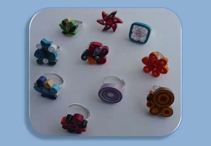 how to make rings with quilling paper