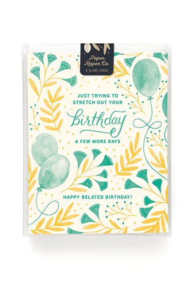 Belated Birthday Card - Box of 8