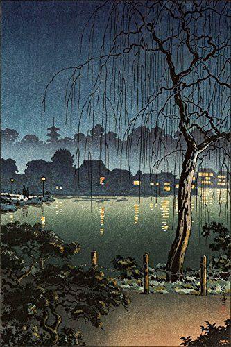 "Japanese Art Print ""Ueno Park"" by Tsuchiya Koitsu. Shin Hanga and Art Reproductions http://www.amazon.com/dp/B00XWRFUAI/ref=cm_sw_r_pi_dp_lfWvwb0KY877E"