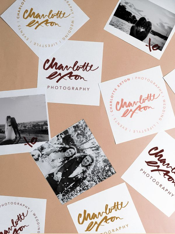 Charlotte Exton Photography Branding designed by Cherie Allan - @designbycherie - cherieallan.design