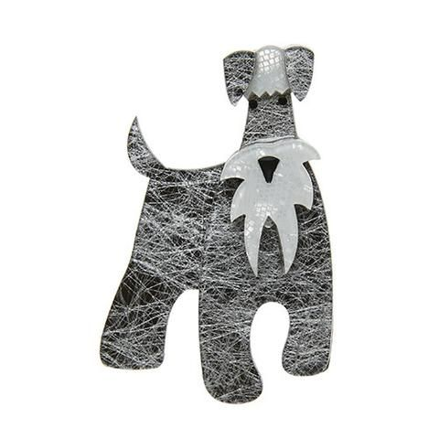 """Erstwilder Limited Edition The Schnauzer and Klaus Brooch. """"I'm all dog and I don't know why people keep getting confused I'm sure it must be the moustache."""""""