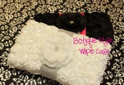 DIY boutiqie style wipe case. I've made these before, but I love the look of these!