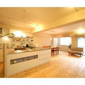 LDを見渡せるオープンキッチン : 【夢のマイホーム】お洒落なキッチンのアイディア実例集【どんなキッチンにする?】 - NAVER まとめ