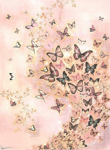 Lily greenwood butterfly painting
