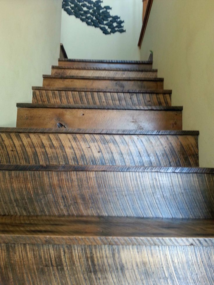 Best Stairs Built From Reclaimed Barn Wood Customer Shares 400 x 300