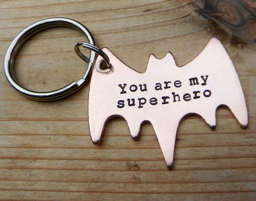 "Batman Wedding Gift: Gifts For Him: ""You Are My Superhero"" Batman Symbol"