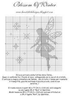 Cross-stitch Fairies - Blossom of Winter... HeartStitch Designs: Freebies