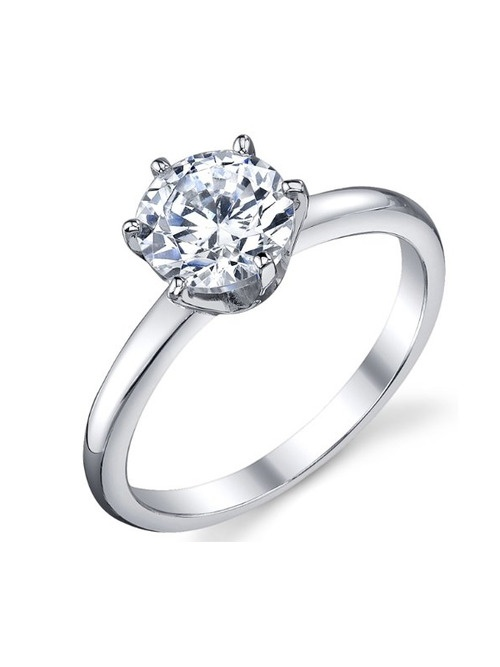 Beautiful Cubic Zirconia Wedding Engagement Ring