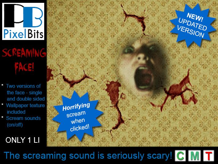 PB - Screaming Face. New, scarier version!