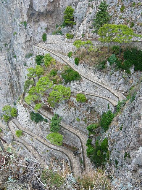 Winding Road, Capri by WP08, via Flickr盤山公路,