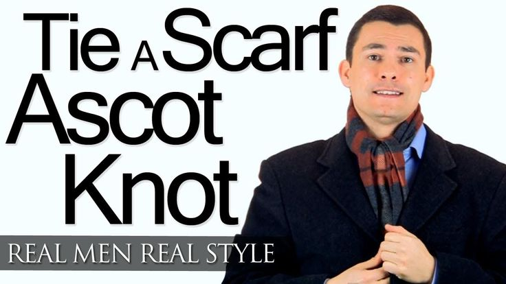 Ascot Scarf Knot - Tying A Man's Scarf - How To Tie Scarves For Men - Wr...
