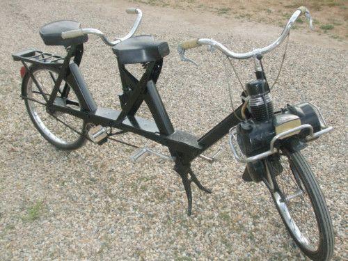 Velosolex-tandem-cyclomoteur-à-galet-moteur-2-temps-49-cm3-Courbevoie-France-Europe.