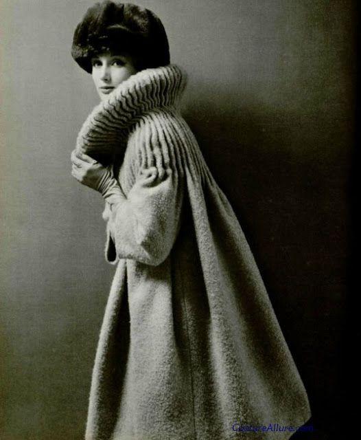Couture Allure Vintage Fashion: Pierre Cardin Coat - 1958