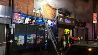 Fire breaks out at Walsall Wood 'cannabis factory'