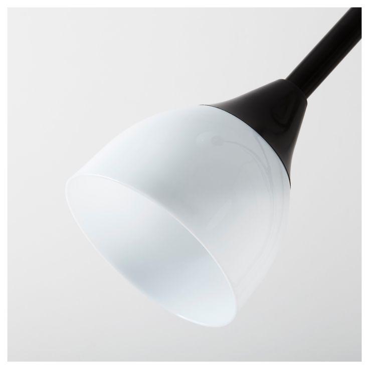 IKEA - NOT Floor uplight/reading light black, white