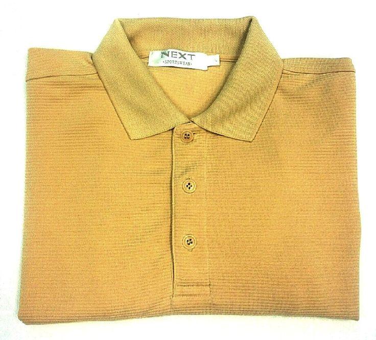 Next Sportswear Yellow Microfiber Fashion Polo Shirt- size L
