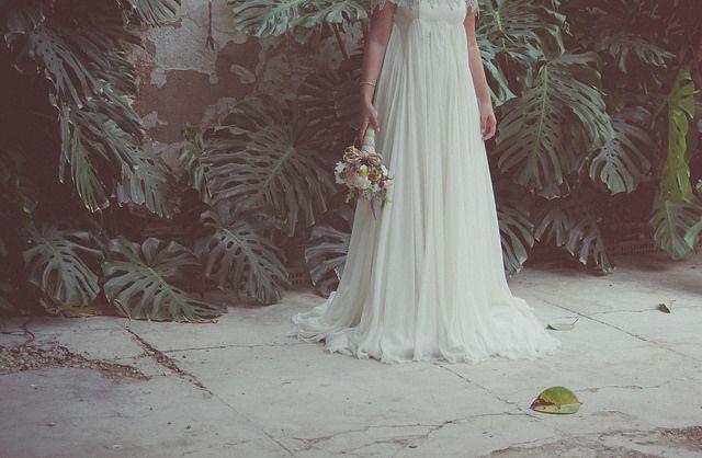 novia patio ramo