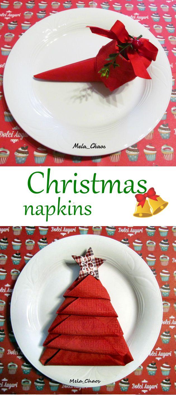CHRISTMAS NAPKINS - TOVAGLIOLI di NATALE - tutorial passo passo per decorare la vostra tavola con tovaglioli a forma di scarpa di elfo e albero di Natale! - step by step tutorial on how to fold napkins to get elf shoes and christmas tree! #natale #christmas #elfo #elf #albero #tree #scarpa #shoe #tutorial #tovagliolo #napkin #decorazione #decoration #DIY #VeroVero88