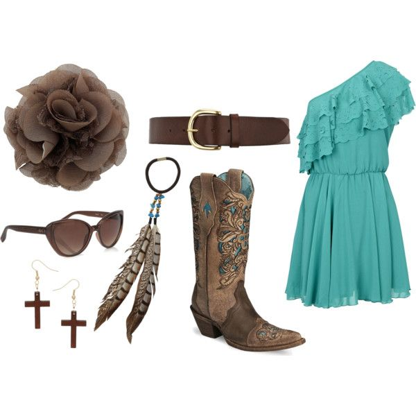 Cowgirl Dressed up!, created by callirobinson23 on Polyvore