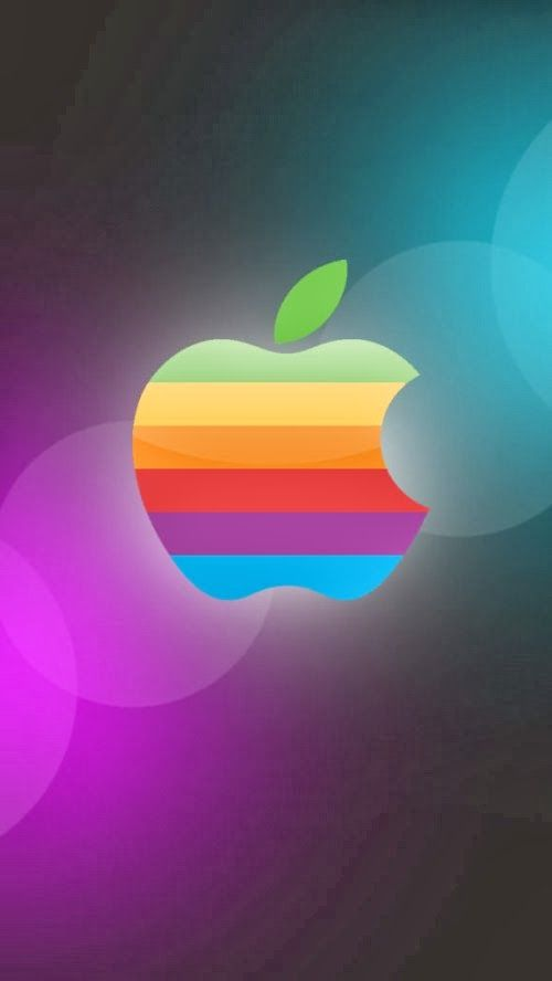 colorful apple logos. IPhone 5 HQ Wallpapers: Apple Logo 2 Colors Wallpaper Colorful Logos