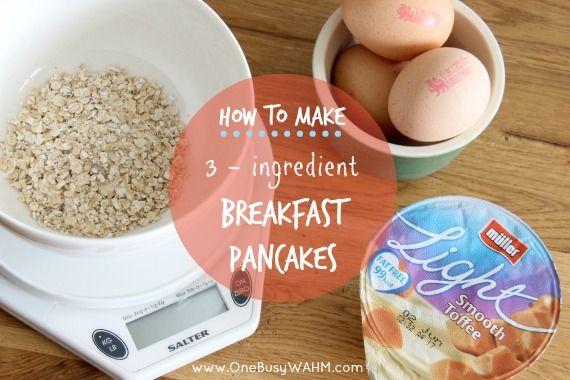Healthy, 3-ingredient Slimming World pancakes.  #weightloss #pancakes #slimmingworld