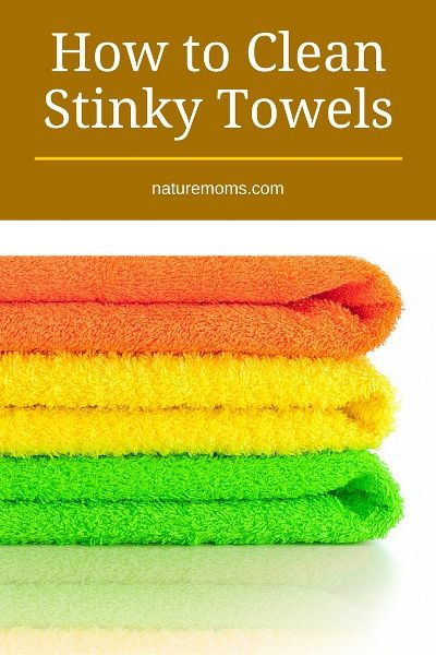 Cleaning stinky towels...no more mildew smell!