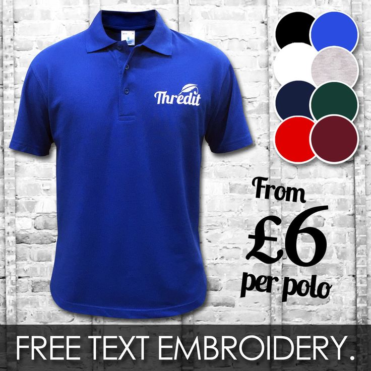 Custom embroidered #printed polo shirts | #personalised workwear t-shirt #wholesa,  View more on the LINK: 	http://www.zeppy.io/product/gb/2/221759063855/
