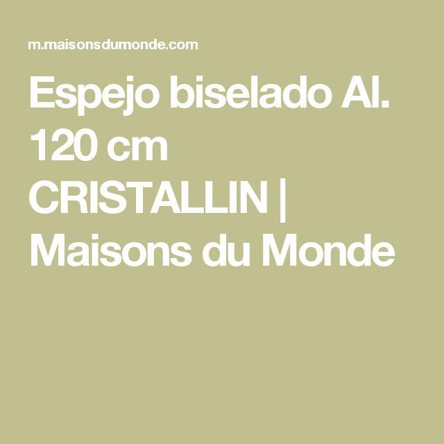 Espejo biselado Al. 120cm CRISTALLIN | Maisons du Monde