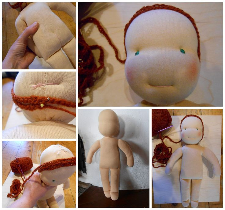 If I take the hair only, my first Waldorf doll may be ready by the 9th month?!