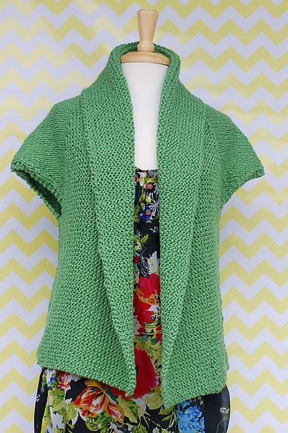 Knitting Vest Pattern Free : Best images about crochet or knit vests boleros on
