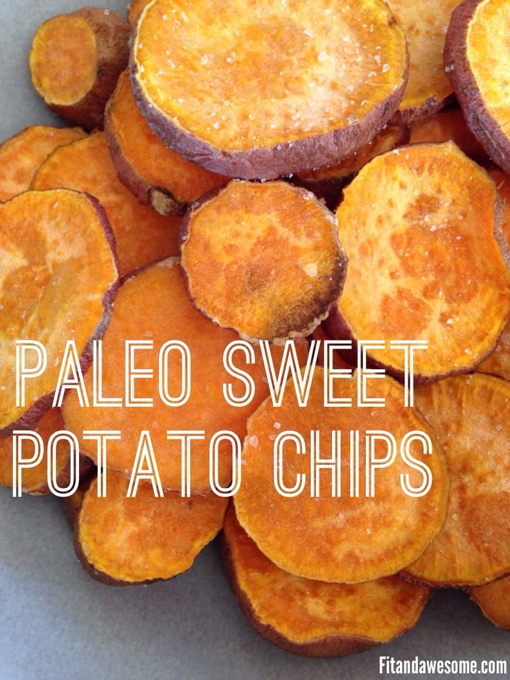 Paleo Sweet Potato Chips Recipe from www.fitandawesome.com