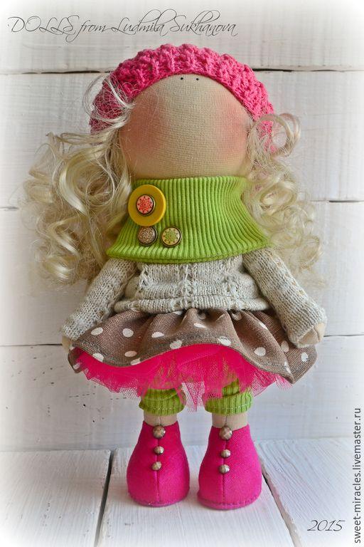 Купить Готовый набор для самостоятельного пошива куколки - кукла ручной работы, одежда для кукол