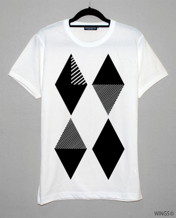 Wings' Diamond pattern Tshirts
