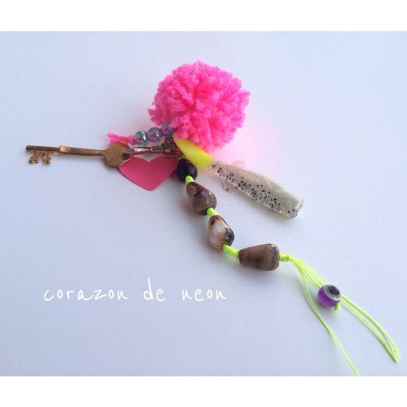 Fishy keychain by corazondeneon on Etsy, $20.00