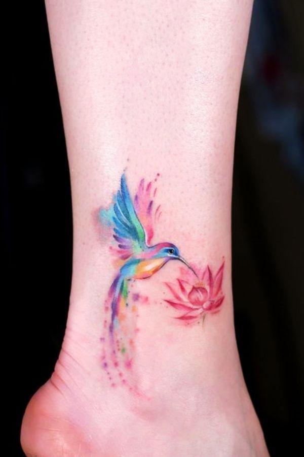 40 niedliche Aquarell Tattoo Designs und Ideen für den vorübergehenden Gebrauch, #Aquarell #…