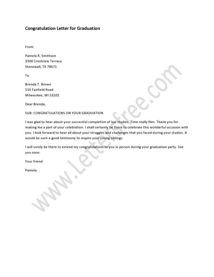 Congratulation Letter For Graduation New Job Congratulations Lettering Letter To Students