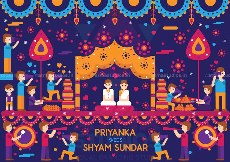Vivid Indian Wedding Invite Design - Print Ready Invite on Behance