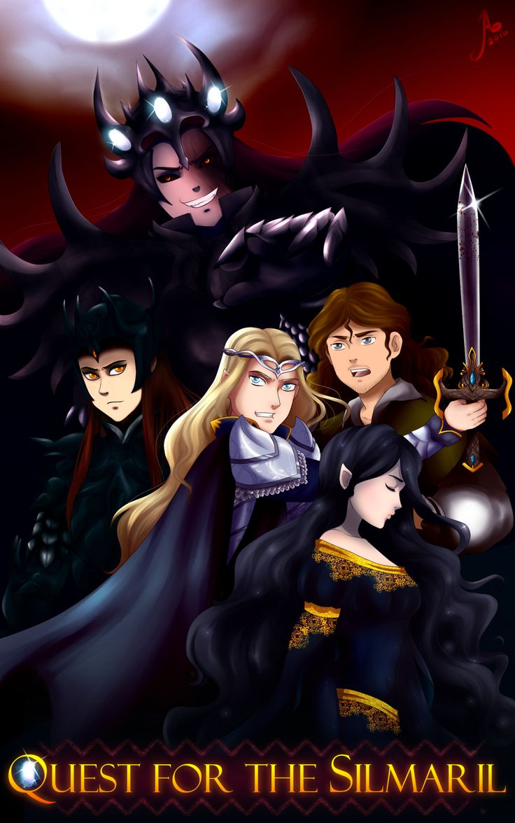 Not sure how I feel about seeing it as a cartoon, but gee, that Finrod is both awesome and super cute