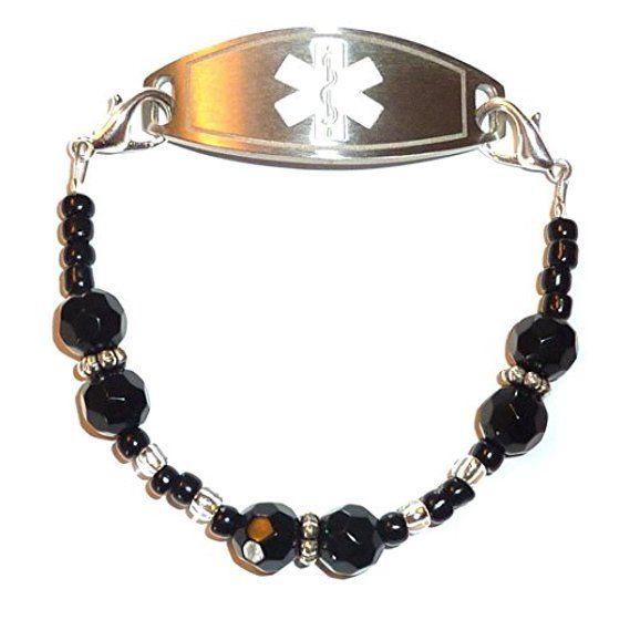Hidden Hollow Beads Black women's Medical Alert ID