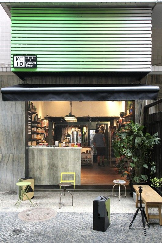 Void General Store / Tavares Duayer Arquitetura  Like the industrial and yet cosy feel.