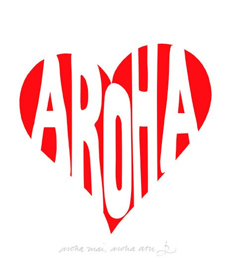 Aroha Mai, Aroha Atu Red Ink Design imagevault.co.nz