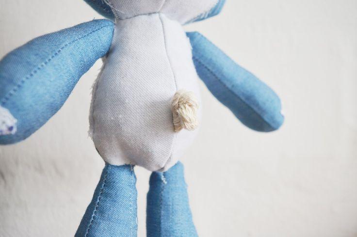 Denim Lamb detail. Floppie doll || by Vir Lief