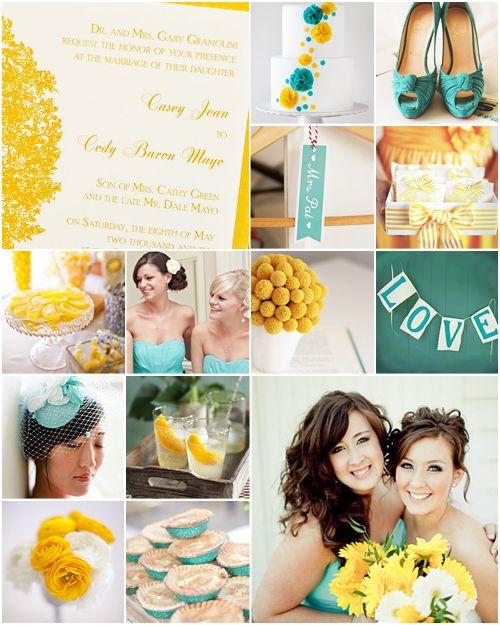 Yellow and Turquoise Wedding inspiration