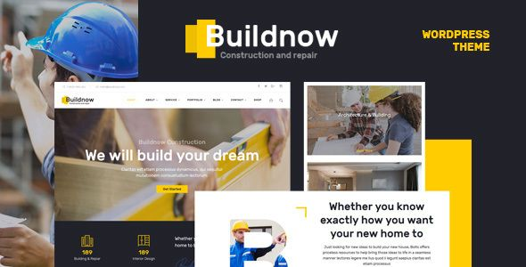 Free Download Buildnow - Construction & Building WordPress Theme