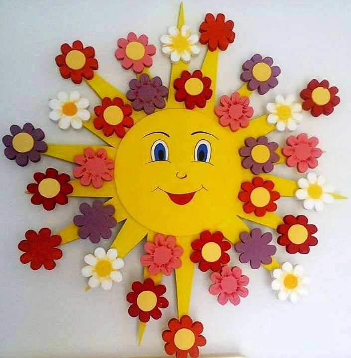 Sunburst & flowers.
