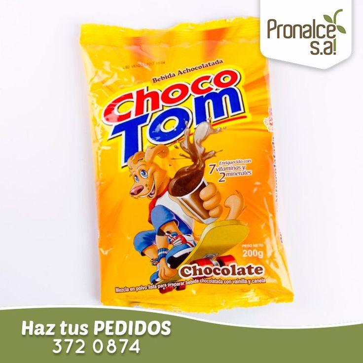 #ChocoTom es una mezcla en polvo lista para preparar bebida chocolatada, es refrescante, nutritiva y de muy buen sabor.