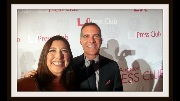 """Mayor Eric Garcetti: """"Thank you for being the light"""" Southern California Journalism Awards 2017"""